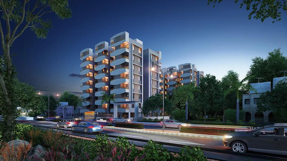 3D Exterior Design Residential Building