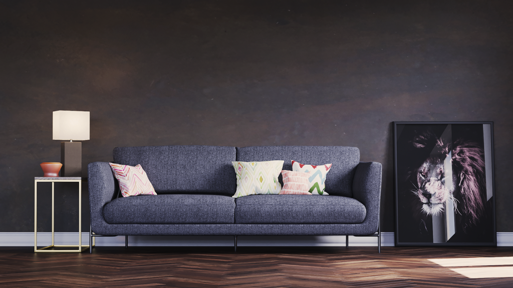 3D Sofa Rendering Design