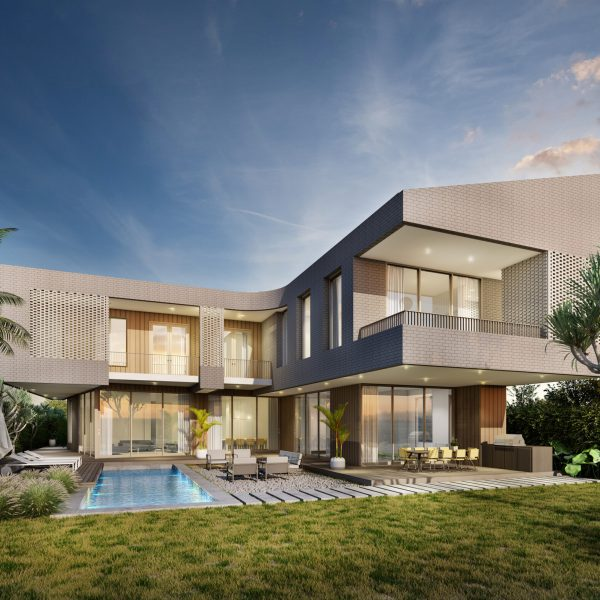 3d Exterior Design of Villa
